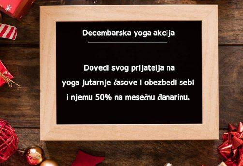 DECEMBARSKA YOGA AKCIJA