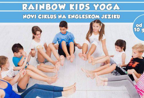 Novi ciklus Rainbow Kids Joge na engleskom jeziku!