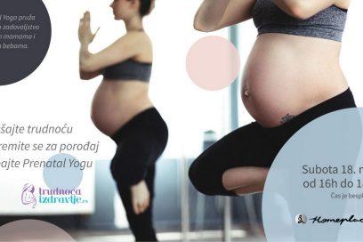 Prenatal Yoga – promotivni čas u maju