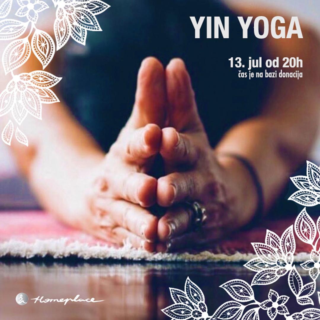 Yin yoga - 13. jul 2019.