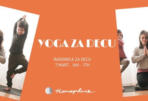 Yoga za decu – radionica u martu