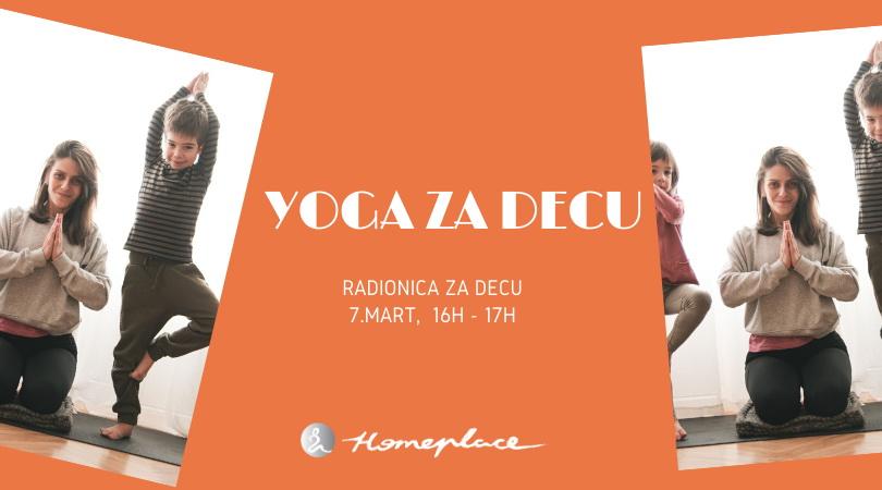 Yoga za decu - mart 2020.