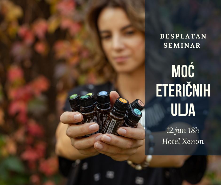 Moć eteričnih ulja - besplatni seminar u hotelu Xenon