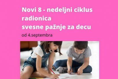 Novi ciklus radionica svesne pažnje za decu