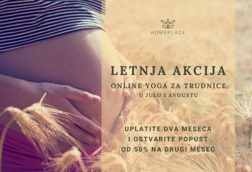Online yoga za trudnice – letnja akcija u julu i avgustu!