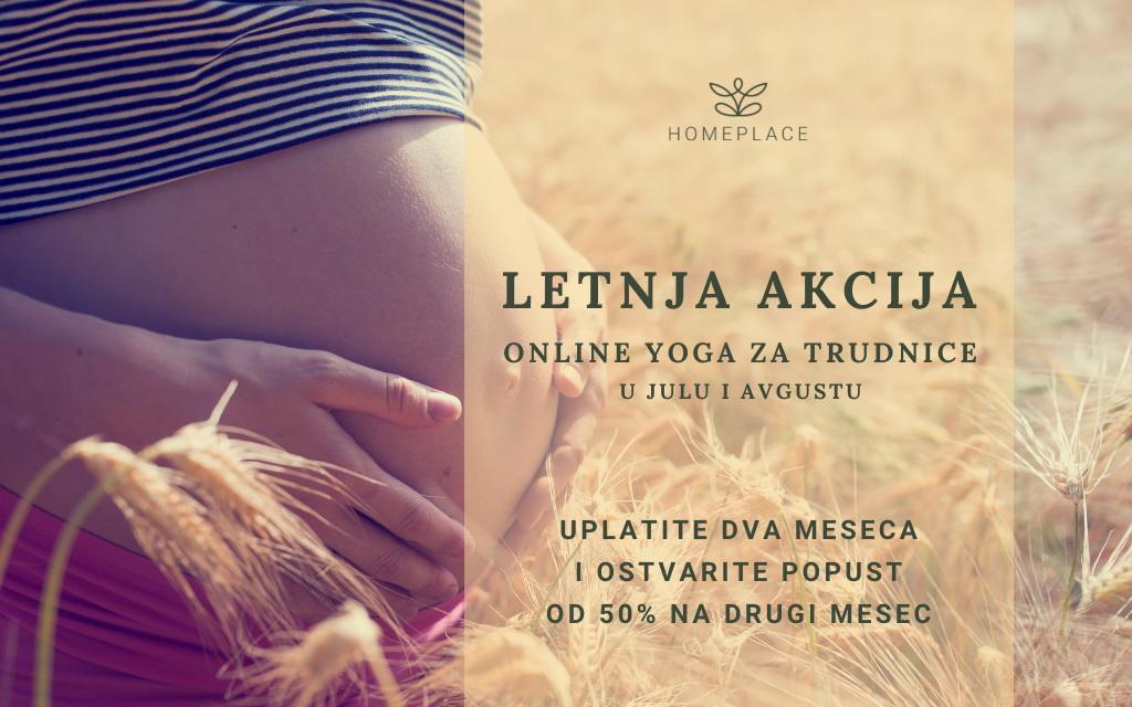 Online yoga za trudnice - letnja akcija