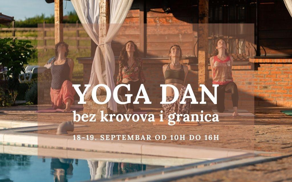 Yoga dan bez krovova i granica - 18. i 19. septembar