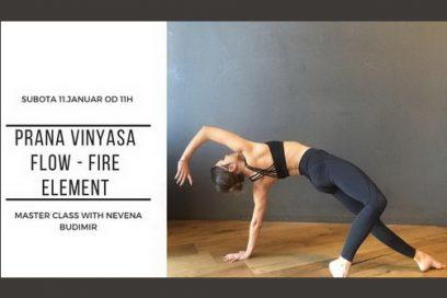 Prana Vinyasa Flow – Fire Element: master class sa Nevenom Budimir