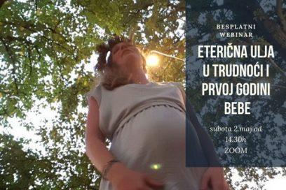 Eterična ulja u trudnoći i prvoj godini bebe – besplatni webinar