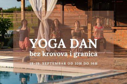 Yoga dan bez krovova i granica!